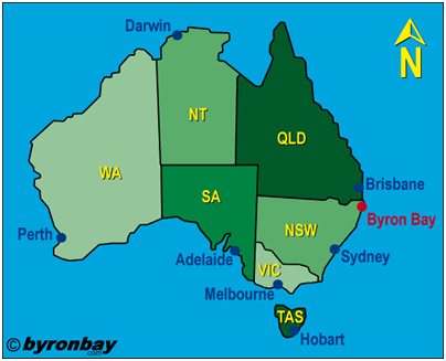 Byron Bay Schoolies map