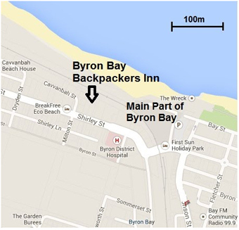 Byron Bay Schoolies Accommodation Map